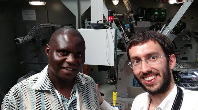 Con Joseph Nkandu,  Fondatore Di NUCAFE, La Principale Azienda Di Trasformazione Del Caffè In Uganda