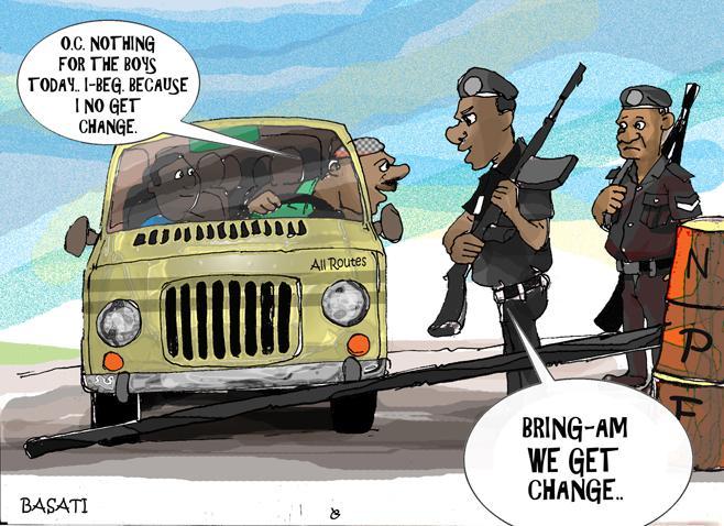 posti di blocco africani